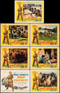 """Movie Posters:Western, Davy Crockett, King of the Wild Frontier (Buena Vista, 1955). Fine/Very Fine. Title Lobby Card & Lobby Cards (6) (11"""" X 14"""")... (Total: 7 Items)"""