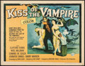 "Movie Posters:Horror, Kiss of the Vampire (Universal, 1963). Folded, Fine+. Half Sheet (22"" X 28""). Horror.. ..."