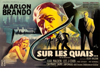 """On the Waterfront (Columbia, 1954). Fine/Very Fine on Linen. Full-Bleed Horizontal French Double Grande (92"""" X 63&q..."""
