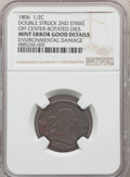 1806 1/2 C Large 6, Stems -- Double Struck, Second Strike Off Center, Rotated Dies, Environmental Damage -- NGC Details...