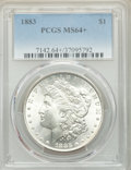 1883 $1 MS64+ PCGS. PCGS Population: (9982/5883 and 260/336+). NGC Census: (10448/5011 and 138/59+). CDN: $80 Whsle. Bid...