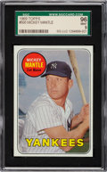 Baseball Cards:Singles (1960-1969), 1969 Topps Mickey Mantle (Yellow) #500 SGC 96 Mint 9....