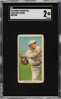 Baseball Cards:Singles (Pre-1930), 1909-11 T206 Drum Chief Meyers (Batting) SGC Good 2 - The Only SGC & PSA Graded Example!...