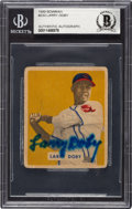 Autographs:Sports Cards, Signed 1949 Bowman Larry Doby #233 Beckett Authentic....