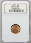 1907 1C MS64 Red NGC. NGC Census: (207/116). PCGS Population: (471/268). CDN: $175 Whsle. Bid for problem-free NGC/PCGS...