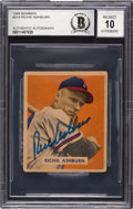 Autographs:Sports Cards, Signed 1949 Bowman Richie Ashburn #214 Beckett Authentic....