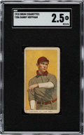 Baseball Cards:Singles (Pre-1930), 1909-11 T206 Drum Danny Hoffman SGC GD+ 2.5 - The Only SGC & PSA Graded Example!...