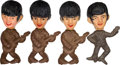 Music Memorabilia:Memorabilia, The Beatles Set of Four Plastic Dolls (Mexico, circa 1960s). . ...