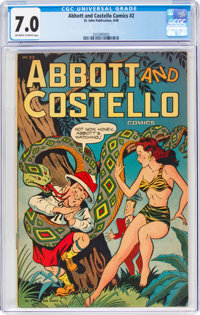 Abbott and Costello #2 (St. John, 1948) CGC FN/VF 7.0 Off-white to white pages