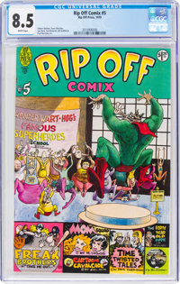 Rip Off Comix #5 (Rip Off Press, 1979) CGC VF+ 8.5 White pages