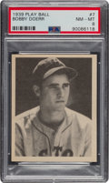 Baseball Cards:Singles (1930-1939), 1939 Play Ball Bobby Doerr (All Caps) #7 PSA NM-MT 8 - Only One Higher....