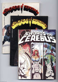 Modern Age (1980-Present):Alternative/Underground, Swords of Cerebus Group (Aardvark-Vanaheim, 1981-84) Condition:Average VF. Lot includes first printings of Volumes 1, 2, 3,...(Total: 5 Comic Books Item)
