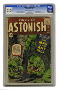 Silver Age (1956-1969):Superhero, Tales to Astonish #27 (Marvel, 1962) CGC GD 2.0 Cream to off-whitepages. First appearance of the Ant-Man (Henry Pym, not in...