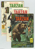 Silver Age (1956-1969):Adventure, Tarzan of the Apes Group (Gold Key, 1966-72) Condition: Average FN. Nineteen comics in this lot include # 156, 157, 158, 159... (Total: 19 Comic Books Item)