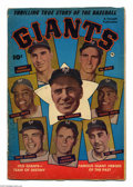 Golden Age (1938-1955):Non-Fiction, Thrilling True Story of the Baseball Giants #1 (Fawcett, 1952)Condition: VG. Photo cover. Willie Mays rookie photo-biograph...