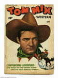 Golden Age (1938-1955):Western, Tom Mix Western #4 (Fawcett, 1948) Condition: VG. Partial photocover. Overstreet 2004 VG 4.0 value = $70....