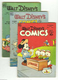 Golden Age (1938-1955):Cartoon Character, Walt Disney's Comics and Stories Group (Dell, 1948-56) Condition:Average GD/VG. This group includes #97, 108, 117, 127, 131...(Total: 11 Comic Books Item)
