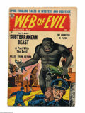 Golden Age (1938-1955):Horror, Web of Evil #9 (Quality, 1953) Condition: VG. Gorilla cover. JackCole art. Overstreet 2004 VG 4.0 value = $78....