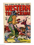 """Golden Age (1938-1955):Western, Western True Crime 16 (#2) (Fox Features Syndicate, 1948) Condition: FN. Jack Kamen-esque art. """"Headlight"""" panels and extrem..."""