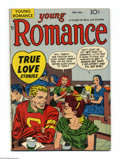Golden Age (1938-1955):Romance, Young Romance Comics #4 (Prize, 1948) Condition: VF. Simon andKirby cover and art. Overstreet 2004 VF 8.0 value = $159....