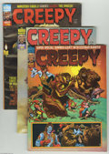 Bronze Age (1970-1979):Horror, Creepy (Magazine) Group (Warren, 1975-77) Condition: Average VF.This group features covers by the likes of Frank Frazetta a...(Total: 9 Comic Books Item)