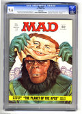 "Magazines:Mad, Mad #157 (EC, 1973) CGC NM+ 9.6 White pages. ""Planet of the Apes""parody. Al Jaffee Fold-In with drug abuse theme. Norman Mi..."
