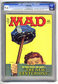 """Magazines:Mad, Mad #158 (EC, 1973) CGC NM+ 9.6 Off-white to white pages. """"The New Centurions"""" movie parody. Norman Mingo cover. Mort Drucke..."""