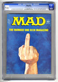 Magazines:Mad, Mad #166 (EC, 1974) CGC NM+ 9.6 Off-white to white pages. Controversial cover which many newsdealers refused to display at t...