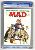 "Magazines:Mad, Mad #184 Gaines File Copy (EC, 1976) CGC NM 9.4 Off-white pages. ""One Flew Over The Cuckoo's Nest"" and ""Rhoda"" spoofs. Bob J..."
