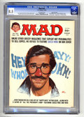 "Magazines:Mad, Mad #187 Gaines File pedigree (EC, 1976) CGC VF 8.5 Off-white pages. ""Happy Days"" and ""All The President's Men"" parodies. Ja..."