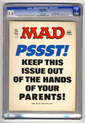 "Magazines:Mad, Mad #195 Gaines File pedigree (EC, 1977) CGC VF- 7.5 Off-white pages. ""Airport 1977,"" ""Black Sunday,"" and ""Barney Miller"" pa..."