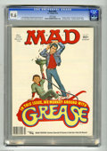 """Magazines:Humor, Mad #205 (EC, 1979) CGC NM+ 9.6 White pages. """"Grease"""" and """"LouGrant"""" parodies. Jack Rickard cover. Sergio Aragones back cov..."""
