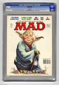 """Magazines:Mad, Mad #220 (EC, 1981) CGC NM+ 9.6 White pages. """"The Empire StrikesBack"""" and """"Quincy"""" parodies. Jack Rickard cover featuring Y..."""