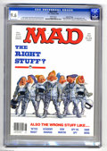 """Magazines:Mad, Mad #247 Gaines File pedigree (EC, 1984) CGC NM+ 9.6 White pages.""""The Right Stuff"""" parody. Mort Drucker, Don Martin, Dave B..."""