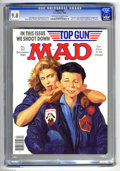 """Magazines:Mad, Mad #267 (EC, 1986) CGC NM/MT 9.8 Off-white to white pages. """"TopGun,"""" """"Cagney and Lacey,""""and """"Mister Rogers' Neighborhood"""" ..."""
