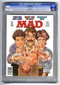"""Magazines:Mad, Mad #280 (EC, 1988) CGC NM+ 9.6 White pages. """"Three Men and a Baby""""and """"Beauty and the Beast"""" parodies. Mort Drucker cover...."""