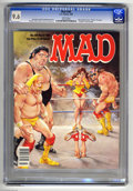 """Magazines:Mad, Mad #285 (EC, 1989) CGC NM+ 9.6 White pages. Mort Drucker coverfeaturing Hulk Hogan, Andre the Giant, and Randy """"Macho Man""""..."""