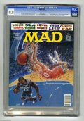 """Magazines:Mad, Mad #333 (EC, 1995) CGC NM/MT 9.8 White pages. """"Clear and PresentDanger"""" parody. Thomas Fluharty cover featuring Shaquille ..."""