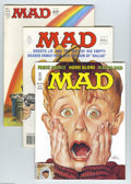 Magazines:Mad, Mad Group (EC, 1972-91) Condition: Average VF+. This group is highlighted by a copy of the Hussein Asylum Edition of #303 (a... (Total: 42 Comic Books Item)