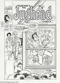 Original Comic Art:Covers, Stan Goldberg and Mike Esposito - Archie's Pal Jughead Comics #82Cover Original Art (Archie, 1996). Jughead's lack of plumb...