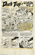 Original Comic Art:Splash Pages, Mac Pakula (attributed) - Battle #5, page 1 Original Art (Atlas,1951). The Korean War is the focus of this detailed title p...