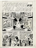 """Original Comic Art:Complete Story, Manny Stallman - Witches Tales #3 Complete 4-page Story """"Revenge bythe Full Moon"""" Original Art (Harvey, 1951). Manny Stallm..."""