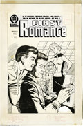 Original Comic Art:Covers, John Tartaglione (attributed) - First Romance #53 Cover OriginalArt (Harvey, 1958). According to Overstreet, the last issue...(Total: 2 Original Art Item)