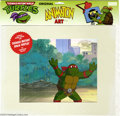 Original Comic Art:Miscellaneous, Teenage Mutant Ninja Turtles - Raphael Animation Cel (MWS Inc.,1991). Raphael runs amok in Central Park in this animation c...