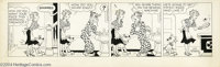 Chic Young Studios - Blondie Daily Comic Strip Original Art, dated 5-7-54 (King Features Syndicate, 1954). Communication...