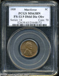 Lincoln Cents: , 1935 1C Doubled Die Obverse MS63 Brown PCGS. FS-013.9....