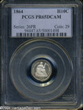 Proof Seated Half Dimes: , 1864 PR 65 Deep Cameo PCGS. ...