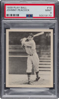 Baseball Cards:Singles (1930-1939), 1939 Play Ball Johnny Peacock #16 PSA Mint 9 - Pop One, One Higher. ...
