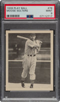 Baseball Cards:Singles (1930-1939), 1939 Play Ball Lem Solters (All Caps) #78 PSA Mint 9 - None Higher. ...