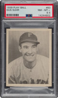 Baseball Cards:Singles (1930-1939), 1939 Play Ball Gus Suhr (All Caps) #83 PSA NM-MT+ 8.5 - Pop Two, None Higher. ...